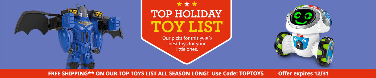 Top Holiday Toy List
