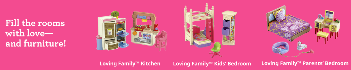Doll Dollhouse Accessories For Babies Toddlers Fisher Price